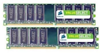 Corsair Value Select 2GB Kit DDR PC3200 (VS2GBKIT400C3) CL3