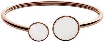 Skagen White Seaglass Rose-Tone Bracelet