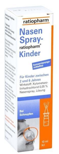 Ratiopharm NASENSPRAY ratiopharm Kinder kons.frei 10 ml