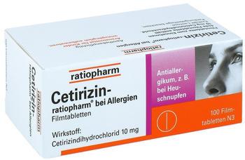 Cetirizin bei Allergien 10 mg Filmtabletten (100 Stk.)