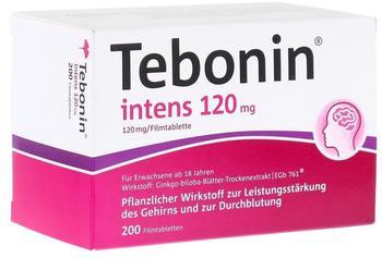 Dr Willmar Schwabe GmbH & Co KG Tebonin intens 120mg Filmtabletten 200 St.
