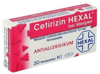 Cetirizin bei Allergien Filmtabletten (20 Stk.)