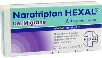 Naratriptan bei Migräne 2,5 mg Filmtabletten (2 Stk.)