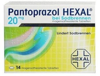 Hexal PANTOPRAZOL HEXAL b.Sodbrennen magensaftres.Tabl. 14 St