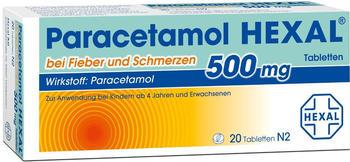 Paracetamol 500 mg Tabletten (20 Stk.)