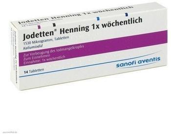Jodetten Henning 1x Wöchentlich Tabletten (14 Stk.)