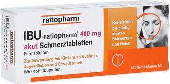 Ibu 400 Akut Schmerztabletten (10 Stk.)