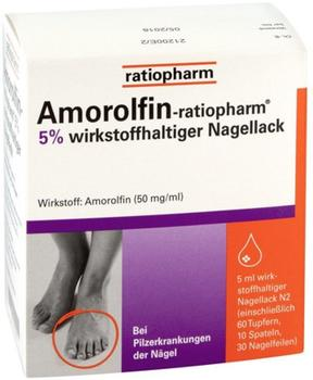 Ratiopharm Amorolfin-ratiopharm 5% wirkstoffh. Nagellack 5 ml