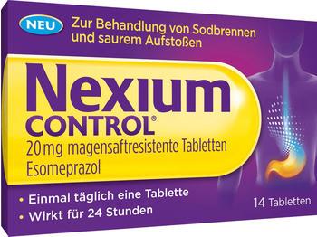 Nexium Control 20 mg magensaftresistente Tabletten (14 Stk.)