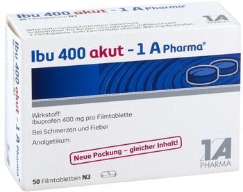 1 A Pharma IBU 400 akut 1A Pharma Filmtabletten 50 St