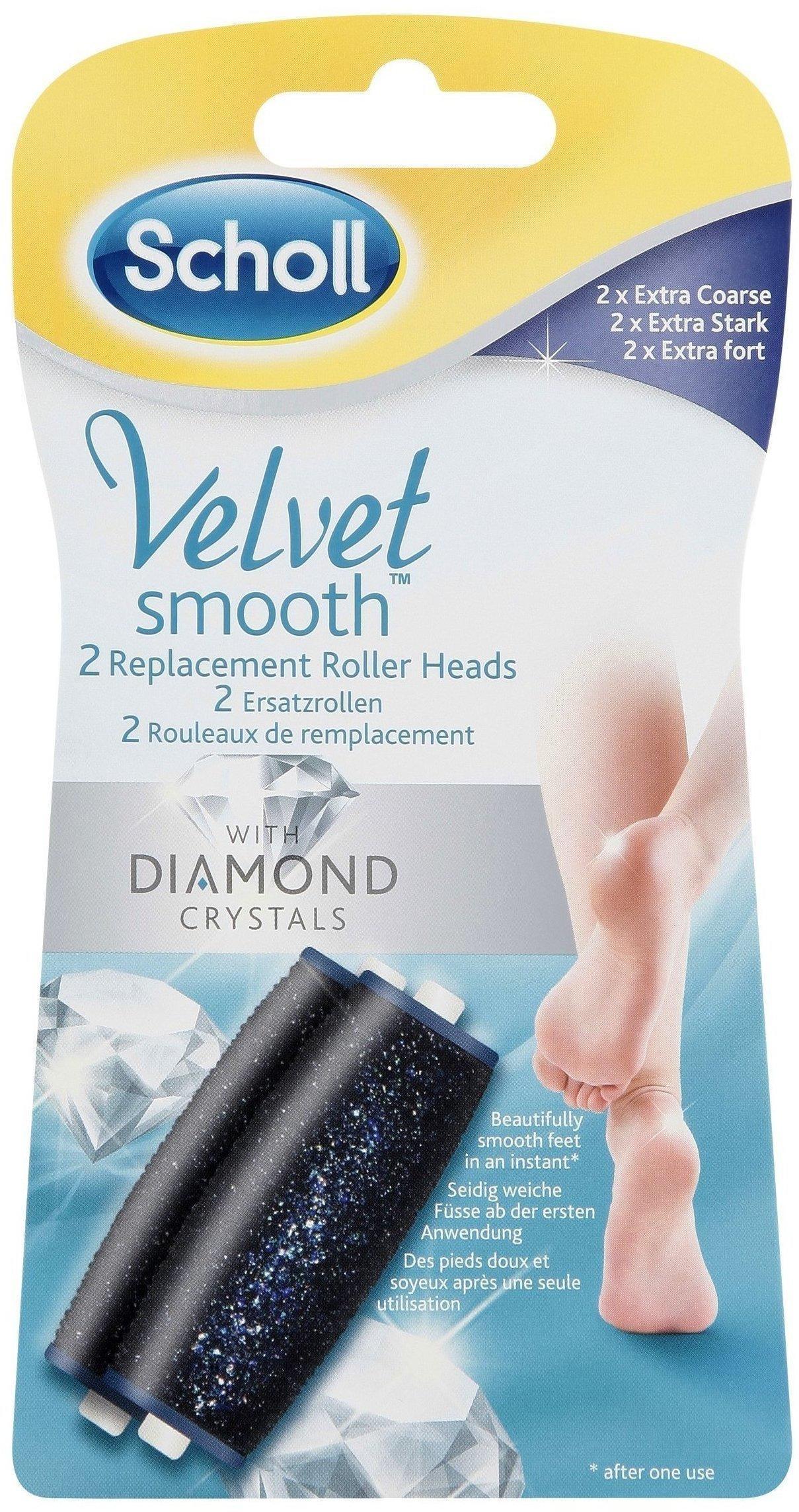 Scholl Velvet Smooth Express Pedi Diamond Ersatzrollen Extra Stark