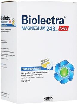 Biolectra Magnesium 243 forte Zitrone Brausetabletten (60 Stk.)