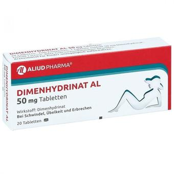 Dimenhydrinat Al 50 mg Tabletten (20 Stk.)