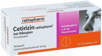 Ratiopharm Cetirizin-ratiopharm bei Allergien 10 mg Filmtabl. 50 St.