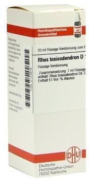 DHU-ARZNEIMITTEL RHUS TOX D12 Dilution 20 ml
