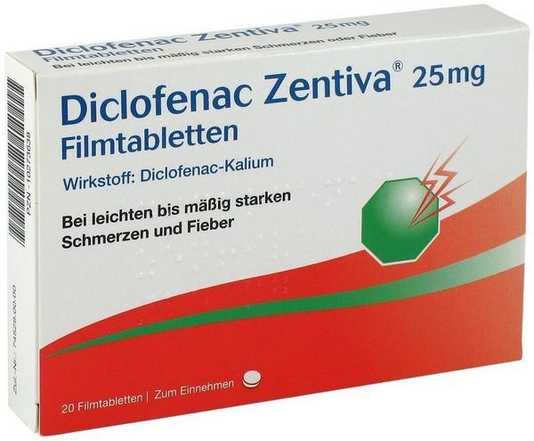 Zentiva Pharma GmbH DICLOFENAC Zentiva 25 mg Filmtabletten 20 St