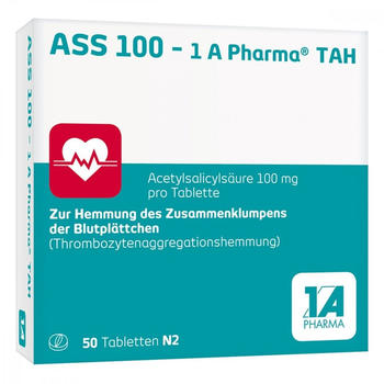 1 A Pharma ASS 100 - 1 A Pharma TAH Tabletten 50 St.