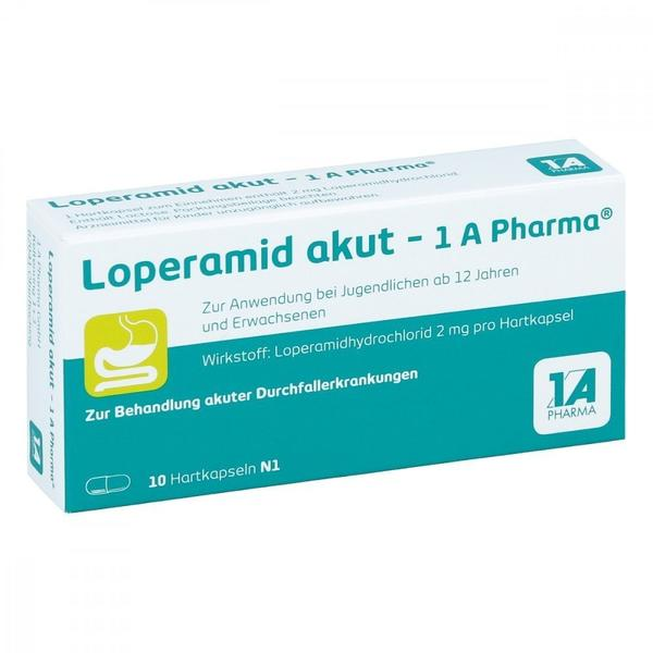 1 A Pharma LOPERAMID akut 1A Pharma Hartkapseln 10 St
