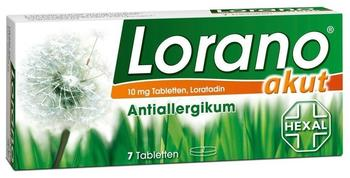 Hexal Lorano akut Tabletten 7 St.