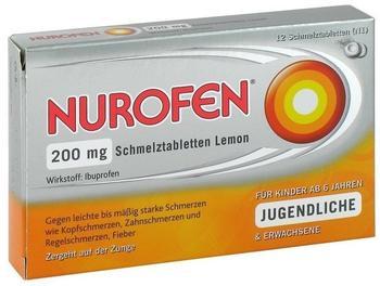 Nurofen 200 mg Schmelztabletten Lemon (12 Stk.)