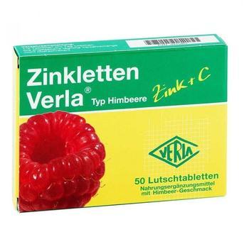 Verla-Pharm Zinkletten Himbeere Lutschtabletten (50 Stk.)