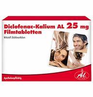 Aliud DICLOFENAC KALIUM AL 25 mg Filmtabletten 20 St