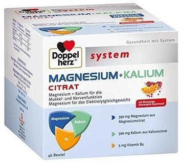 Doppelherz System Magnesium + Kalium Citrat Granulat (40 Stk.)