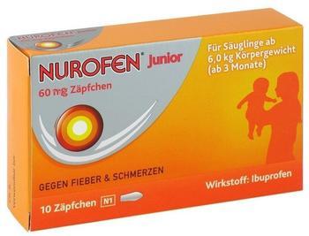 Nurofen Junior Zäpfchen 60 mg (10 Stk.)