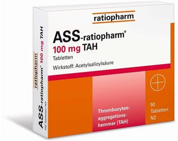 Ratiopharm Ass-ratiopharm 100mg TAH Tabletten 50 St.