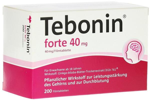 Dr Willmar Schwabe GmbH & Co KG TEBONIN FORTE 40MG Filmtabletten 200 St.