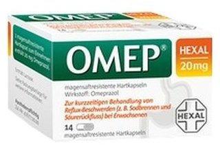 Hexal OMEP HEXAL 20 mg magensaftresistente Hartkapseln 14 St