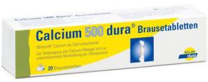 Calcium 500 Dura Brausetabletten (20 Stück)