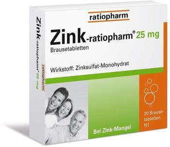 Zink 25 mg Brausetabletten (20 Stk.)