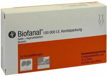 Dr Pfleger Arzneimittel GmbH BIOFANAL 25g Salbe + 6 Vag.Tbl. 1 P