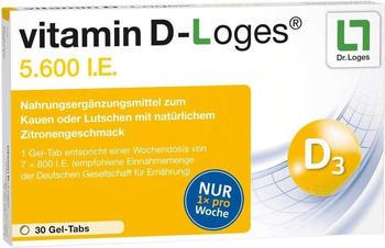 Dr. Loges vitamin D-loges 5.600 I.E. Kautabletten (30 Stk.)