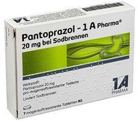 1 A Pharma PANTOPRAZOL 1A Pharma 20mg bei Sodbrennen msr.Tab. 7 St