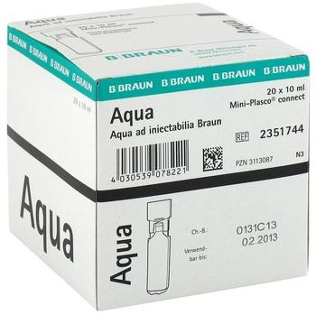 B Braun AQUA AD injectabilia Miniplasco connect Inj.-Lsg. 20X10 ml