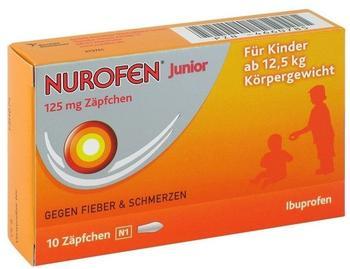 Reckitt Benckiser Deutschland GmbH NUROFEN Junior 125 mg Zäpfchen 10 St