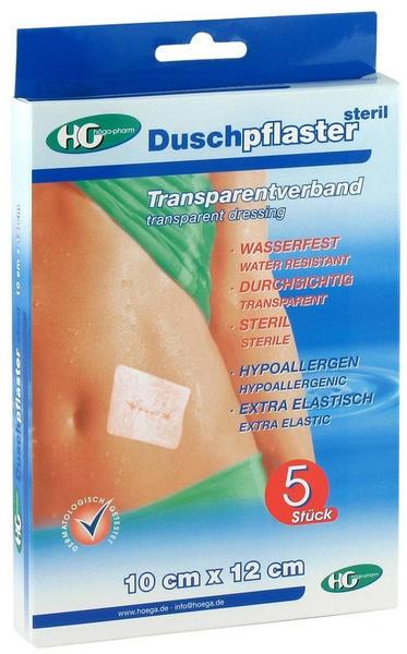 Höga-pharm G höcherl Duschpflaster steril Transparentverband 10cmx12cm 5 St.
