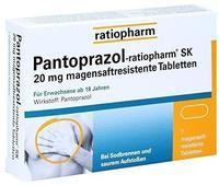 Ratiopharm PANTOPRAZOL ratiopharm SK 20 mg magensaftres.Tabl. 7 St