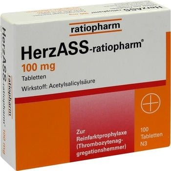 Herz ASS 100 mg Tabletten (100 Stk.)