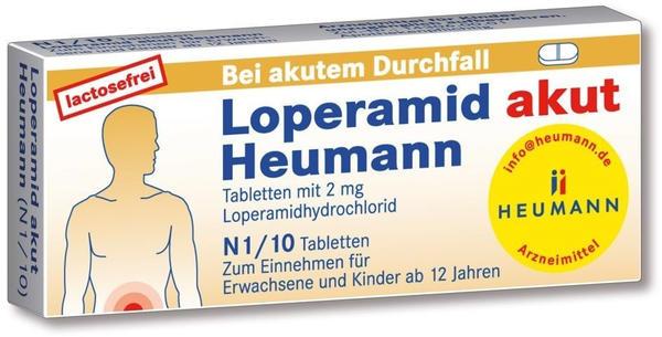 Loperamid akut Tabletten (10 Stk.)