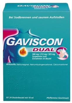 Gaviscon Dual 500 mg / 213 mg / 325 mg Beutel (24 x 10 ml)