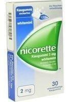 Nicorette Whitemint 2 mg Kaugummi 30 St.
