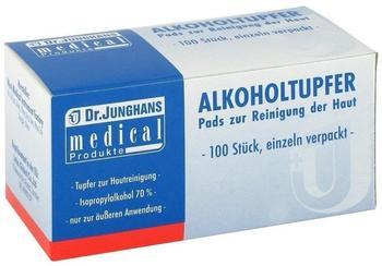 Dr. Junghans Medical Alkoholtupfer 3 x 6 cm Steril 100 Stk.