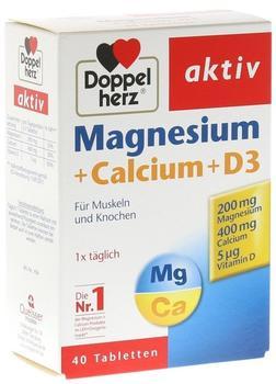 Doppelherz Magnesium + Calcium + D3 Tabletten (40 Stk.)