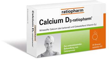 Calcium D3 Ratiopharm BrauseTabletten (20 Stk.)