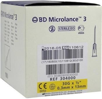 Becton Dickinson BD MICROLANCE Kanüle 30 G 1/2 0,29x13 mm 100 St
