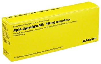 Alpha Liponsäure 600 mg Infusionslösung (5 x 50 ml)