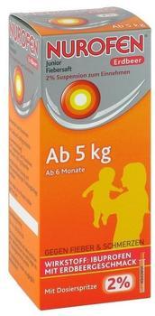 Reckitt Benckiser Deutschland GmbH NUROFEN Junior Fiebersaft Erdbeer 2% 100 ml